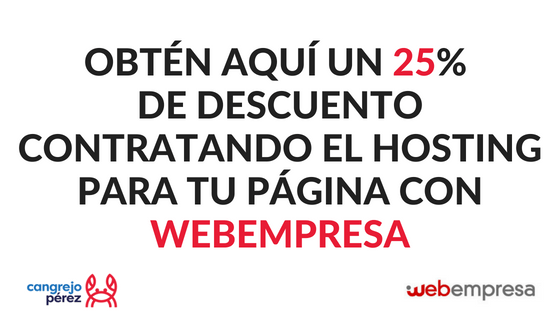 descuento hosting webempresa