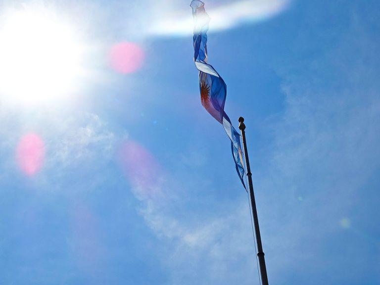 bandera de argentina ondeando