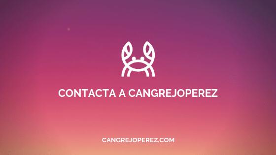 como contactar a cangrejoperez