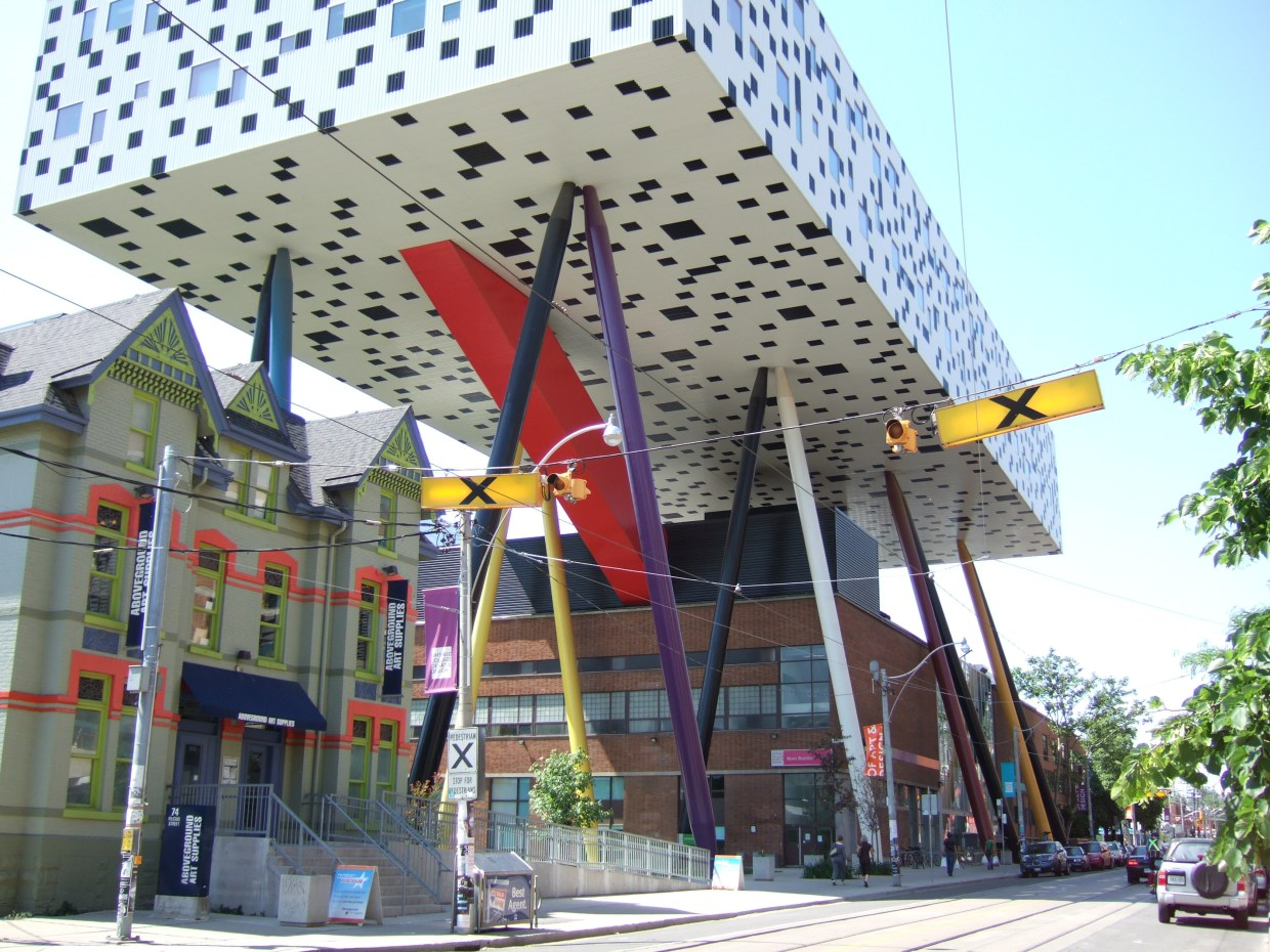 ocad university on a sunny day from mccaul st