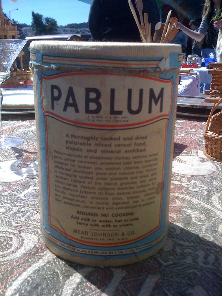 Pablum, baby cereal
