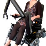 robotic arm attached to wheelchair