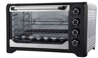 silver electric oven