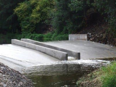 New fish pass on the Annacloy River