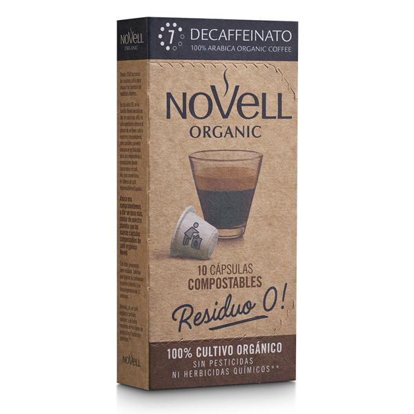 Decaffeinato organic premium coffee no waste compostable capsules