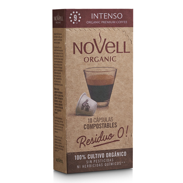 Intenso organic coffee compostable capsules no waste