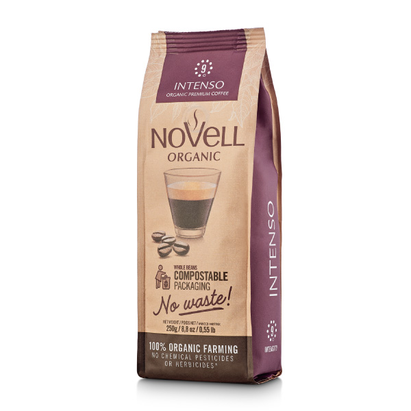 Novell Intenso whole Beans organic coffee