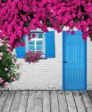 Rengarenk çiçekli kapı giriş tasarımları (4)