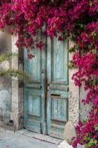 Rengarenk çiçekli kapı giriş tasarımları (6)