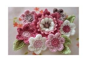 Tığ İşi Çiçek Motifi Modelleri (14)