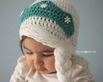 Elsa Örgü Bere Modeli Frozen Hat Crochet (2)