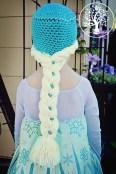 Elsa Örgü Bere Modeli Frozen Hat Crochet (22)