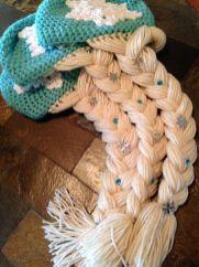 Elsa Örgü Bere Modeli Frozen Hat Crochet (51)