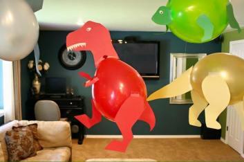 Balon ile Dinazor Yapılışı