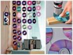 Bozuk ve atıl cdler ile odalara dekoratif görünüm verebilirsiniz