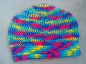 Renkli iple Tunus İşi Şapka Yapılışı