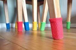 Tığ İşi Sandalye Çorapları