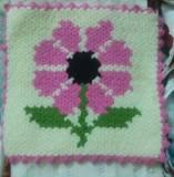Yaz çiçeği Kare Lif Model