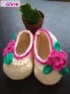 Kolay Kız Bebek Patiği Çiçekli Yapımı (3)