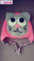 Kedi Motifli Çocuk Beresi Yapımı - Kedili Bere Yapımı (1)