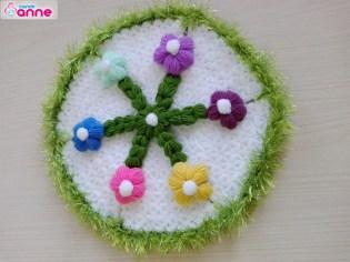 Rengarenk çiçekli lif yapımı