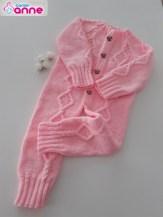 Örgü bebek tulumu yapılışı - Kar tulum modeli yapımı (9)