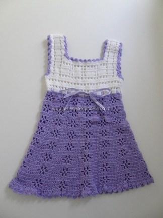 Bebek Yazlık Örgü Elbise Modelleri-7