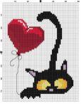 Kanaviçe (Etamin) Kedi Şablonları (11)