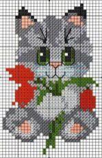 Kanaviçe (Etamin) Kedi Şablonları (18)