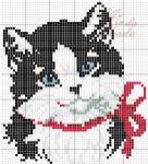 Kanaviçe (Etamin) Kedi Şablonları (23)