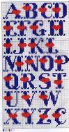 Kanaviçe, etamin alfabe, harf ve rakam şablonu (22)