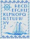 Kanaviçe, etamin alfabe, harf ve rakam şablonu (31)