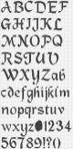 Kanaviçe, etamin alfabe, harf ve rakam şablonu (5)