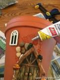 Bahçe İçin Peri Evi Saksı Yapımı-6