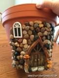 Bahçe İçin Peri Evi Saksı Yapımı-8