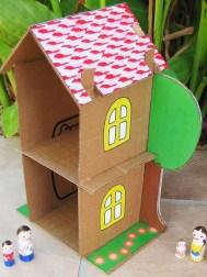 Kartondan Ev Yapımı-7