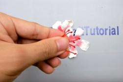 Kağıttan Küpe (Fuchsia) Çiçeği Yapımı-3