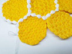 Sarı çiçek lif yapılışı