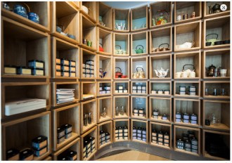 Dem Bebek gorgeous tea filled shelves