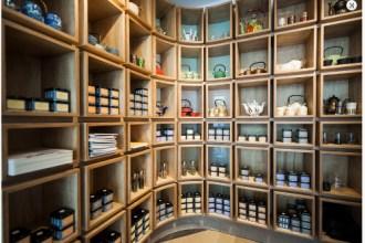 Dem Bebek gorgeous tea filled shelves