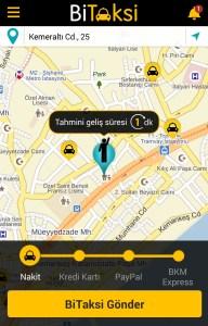 Sadece bulunduğunuz lokasyonu işaretleyin ve taksi şoförünüzün gelip sizi almasını beklemeye koyulun