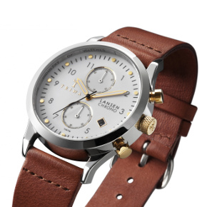 Ivory and leather Lansen watch from Triwa