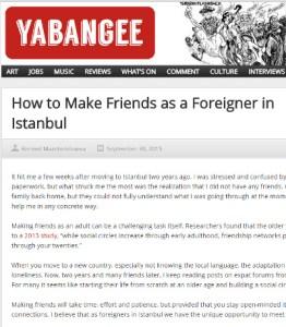 Screenshot of Yabangee article
