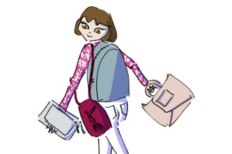 Girl carrying various Rara Atelier bags