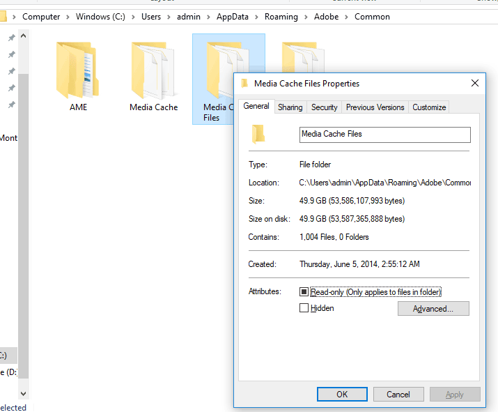 Properties of Adobe Premier Media Cache Files