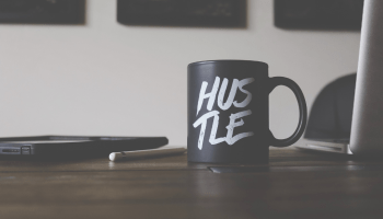 hustle, quote on a cup, venture capital in canada, gerogian partners