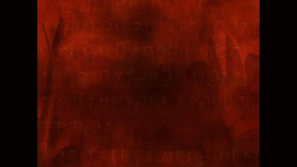 Red screen during opening cutscene