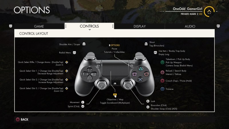 Control layout view