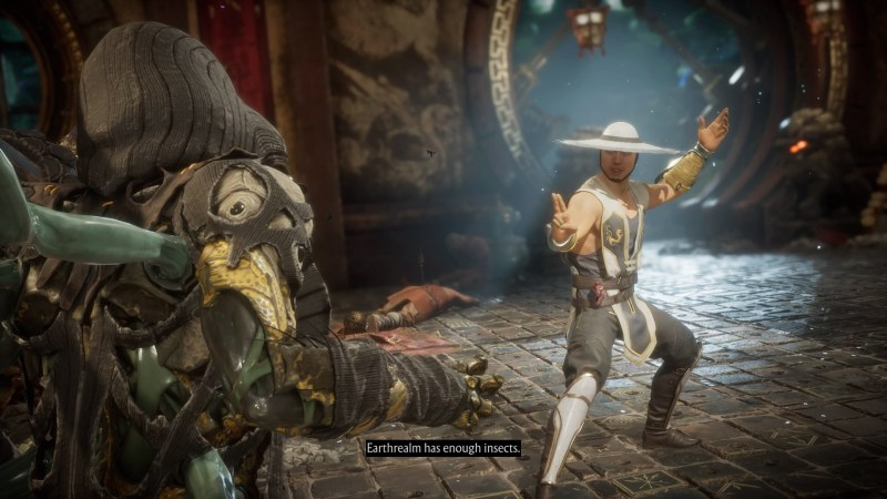 Pre-fight cutscene with D'vorah and Kung Lao.