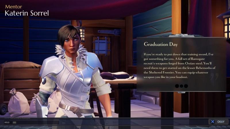 Quest acceptance screen showing quest info text.